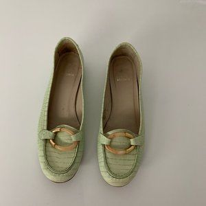 Stuart WeiztmanMint Green Loafers